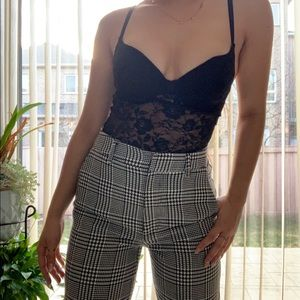 Black and White Pattern Dress Pants